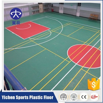 Pvc vinyl flooring indoor basketball court price buy for Indoor basketball court flooring cost