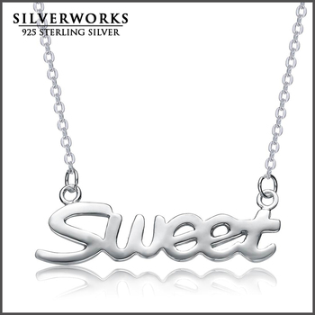 ad1b3c5ae 925 Sterling Silver Personalized Name Necklace - Custom Made with any words