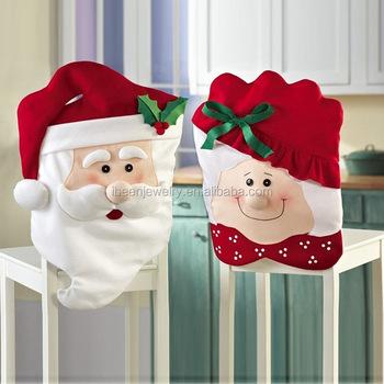festival party christmas fleece flet santa claus couple design cheap spandex chair covers snowman christmas chair - Christmas Fleece