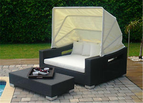 Terassen Sofa terrasse gartenmöbel weide rattan sofa terrasse schlafcouch mit