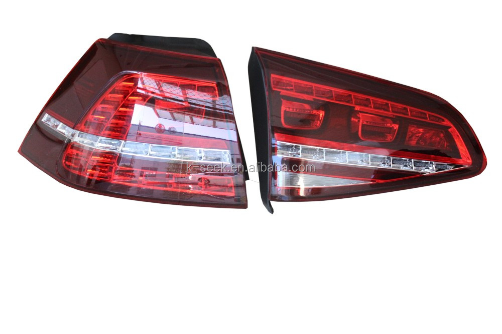 Cherry Color Led Tail Light For Golf Mk7 - Buy For Mk7 Led Tail Lamp ...