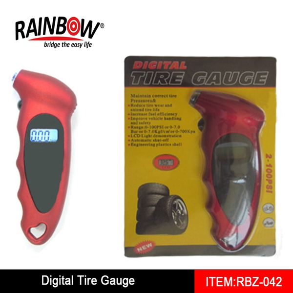 Best selling RBZ-042 Tire gauge with pressure release valve