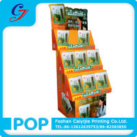 Personal care medicine cardboard corrugated master carton display stand