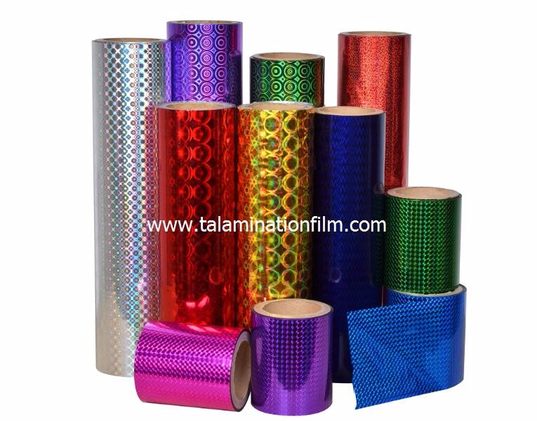 Different Pattern Transparent  BOPP Holographic Metalized  Lamination Film for Paper Board