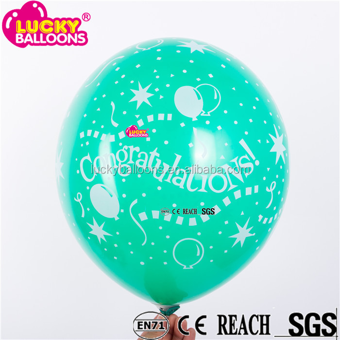latex raw material and party festival balloon congratulations