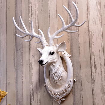Modern Resin Animal Deer Heads Wall Decoration Decor Head Product On Alibaba