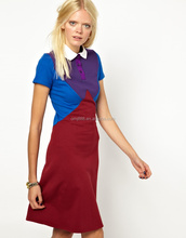 wholesale cheap Contrast point collar 100% cotton short prom dresses 2013