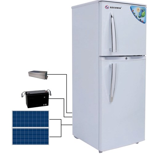 Battery operated refrigerator Solar power rechareable /panels/battery/AC adaptor