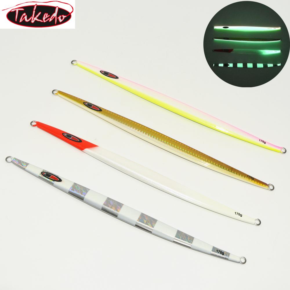 TAKEDO JY05 170g Long Lead Jig Fast Sinking Speed Fall Bait Fishing Weights Jigs Lures Sinker