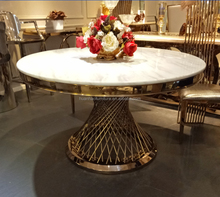 2017 Modern royal hot sale marble top dining table dinner table