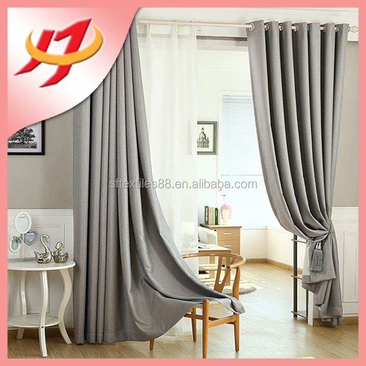 Royal new model blackout simple ready made curtain design for restaurant hotel home used