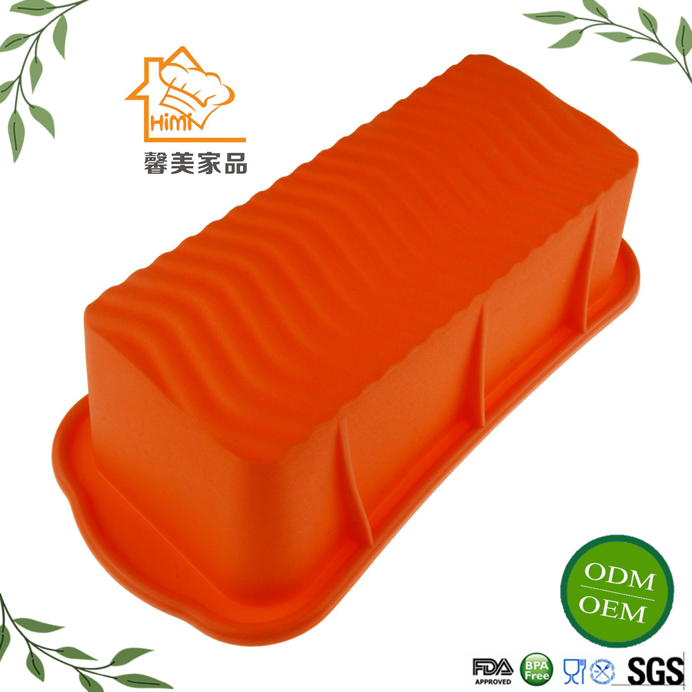 HIMI 2016 Rectangle silicone microwave safe cake baking pan Handmade Soap DIY Bread Loaf Toast Mold