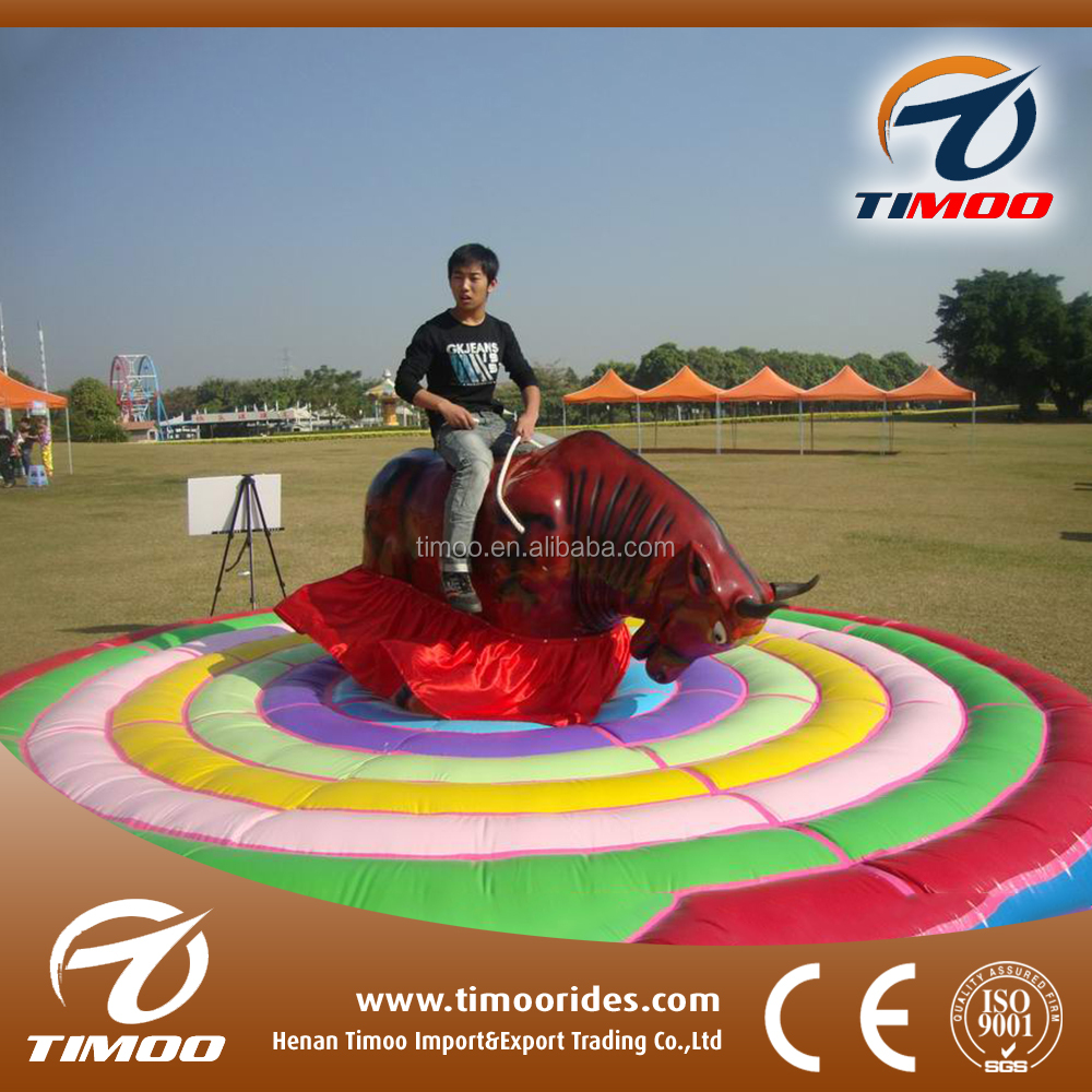 Rides On Games China Mechanical Bull Rodeo Inflatable Bull Rodeo Simulator For Sale