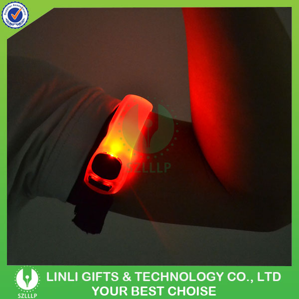 Customized Safety Warning Light Up Flashing LED Reflector Armband