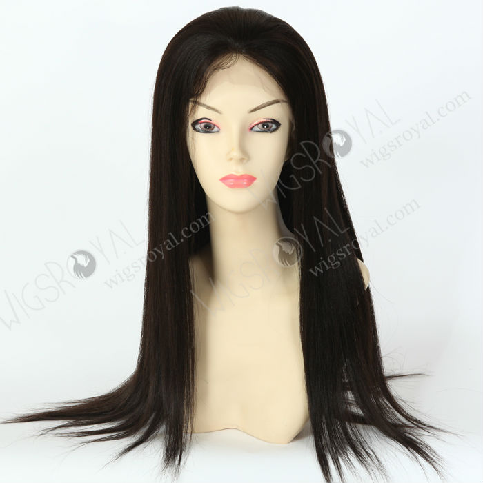 top selling good quality silk top light yaki full lace wigs