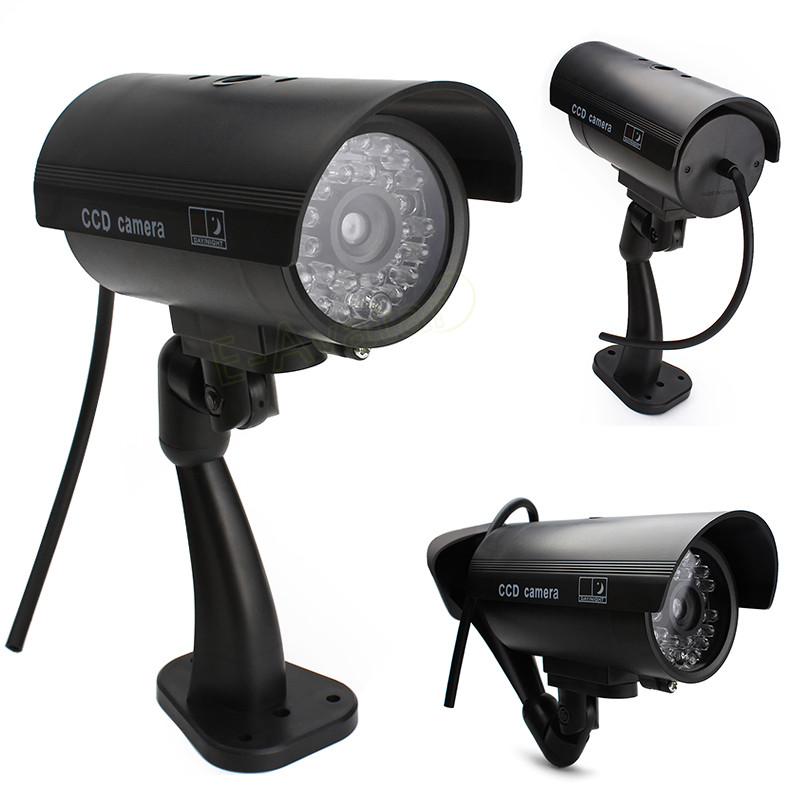 Wonderful Outdoor Indoor Fake Surveillance Security Dummy Camera Night CAM LED Light