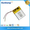 UN38.3 UL Approved 3.7v 850mah lipo battery cell / li-ion battery 3.7v 650mah / li polymer battery 3.7v 1200mah