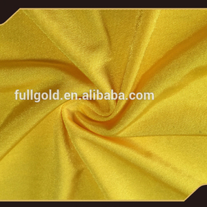 Chinese high quality printed knit shining plain velvet fabric for dresses