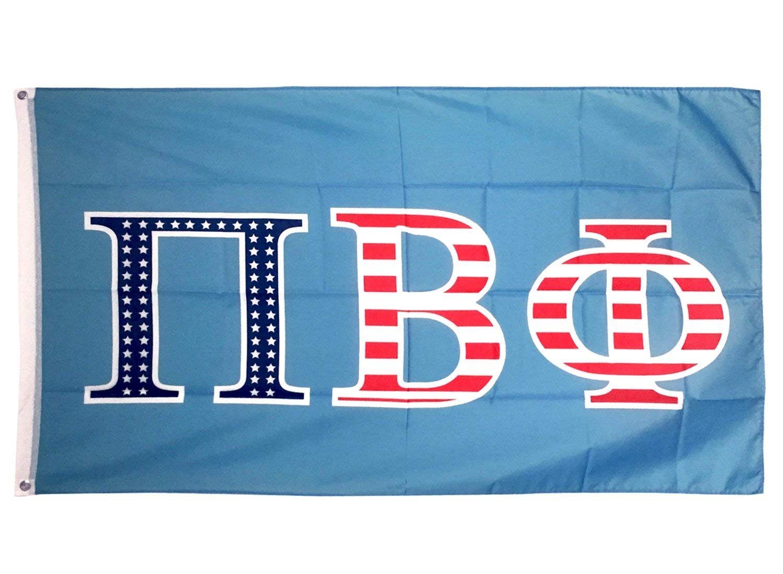 Pi Beta Phi USA Letter Sorority Flag Greek Letter Use as a Banner Large 3 x 5 Feet Sign Decor Pi Phi