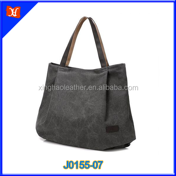 Good Quality Women's Canvas Leather Tote Bag Handbag