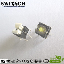 6X6mm SPST with 4 PCB terminal and yellow or white LED miniature tact switch