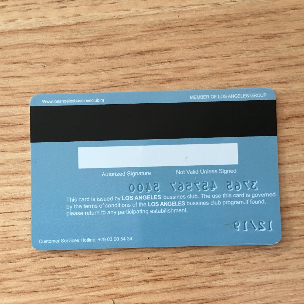 Embossing Numbered Pvc Loco/hico Magnetic Card Embossed Serial ...