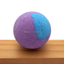 Solid Color Lavender Relax Tea Dead Sea Salt Custom Organic Fizzy Bath Bomb With Ring