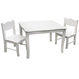 Get Quotations · Viv + Rae Matilda Kids 3 Piece Square Table And Chair Set,  White