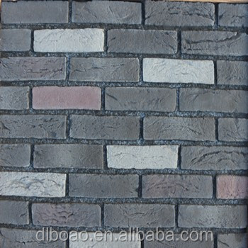 Brick wall panel by rubber mold