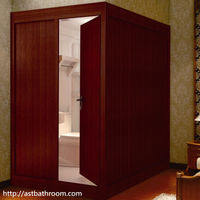 Traditional fitting with CE certificate wooden walls shower unit