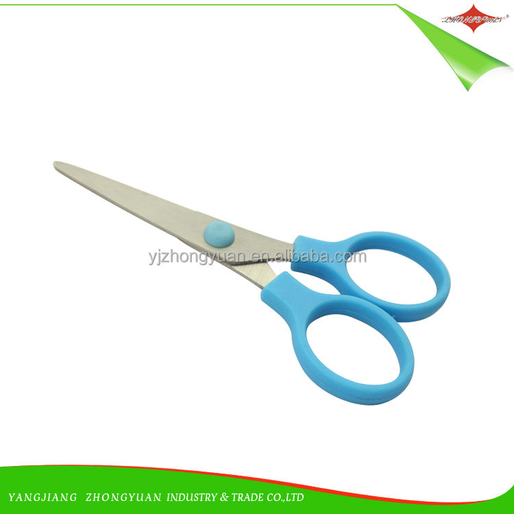 ZY-J7007 Student Scissor safety children high quality Paper scissors cutting stainless steel school office stationary