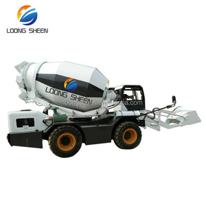 1.0m3 capacity self loading concrete mixer truck for building industry