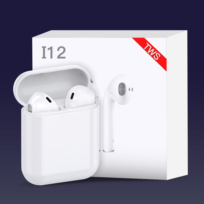 i12 tws Blue tooth Earphone Touch control Earbuds 3D Surround Wireless earphone Charging case for iPhone Android phone