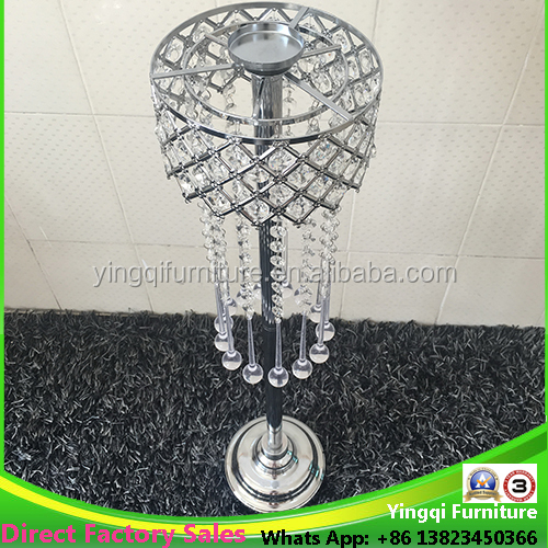 Tall Round Crystal Candle Stand Wedding Centerpieces