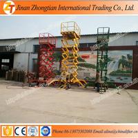 Portable hydraulic scissor lift rising platform used for aerial working