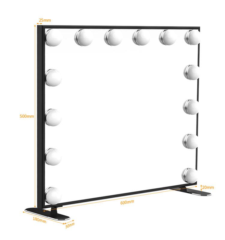 מראת איפור מוארת מראה עם Dimmable LED נורות ומגע בקרת עיצוב, הוליווד סגנון איפור קוסמטי מראות עם אורות