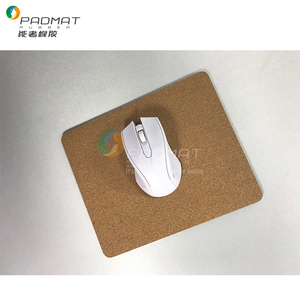 OEM Cork Surface Mouse Pad with Anti-slip Rubber Base