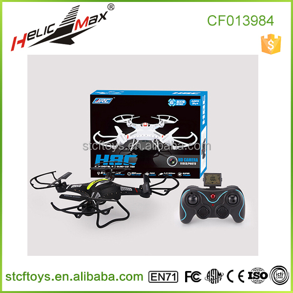 Promotional toys 2.4G 4CH 6 Axis gyro 33cm RC Quadcopter Drone with 3MP or 2MP Camera JRC H8C-2 for Boy Kids Hobby