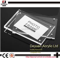 Clear custm magnetic acrylic photo frames