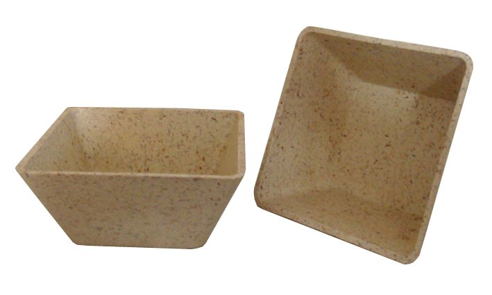 Biodegradable plant fibre flower pot