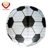 2017 popular decoration round football paper balloons wholesale