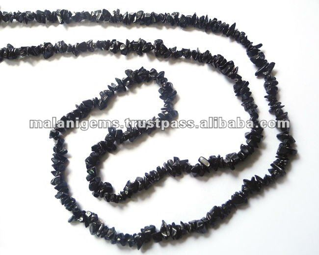 Natural Black Onyx Uncut Chips Loose Beads