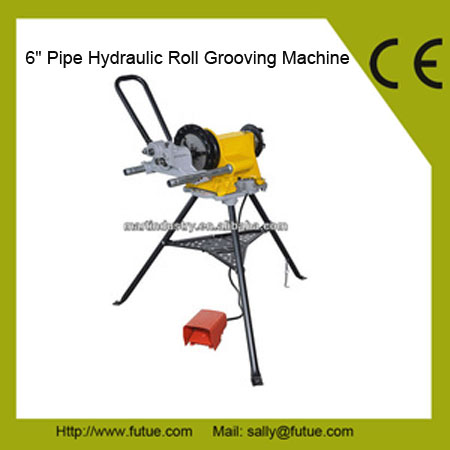 "Professional Plumbing Tools, 6"" Pipe Roll Grooving Machine, CE Approved"