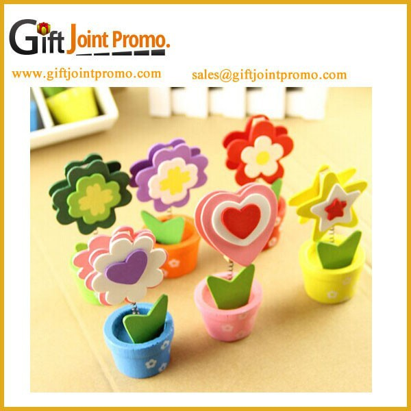 Hot Selling Potted Name Card Clip,Promotional Sticker Note Clip/Memo Clip