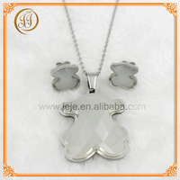 Hottest Bulk Price Cute Design Diamond Imitation Jewellery Necklace Set