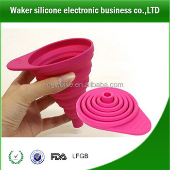 Hidden Collapsible Silicone Funnel