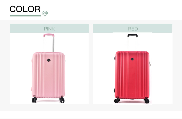 BUBULE OEM ODM 3Pcs PP Suitcase Light Colorful Trolley Bags