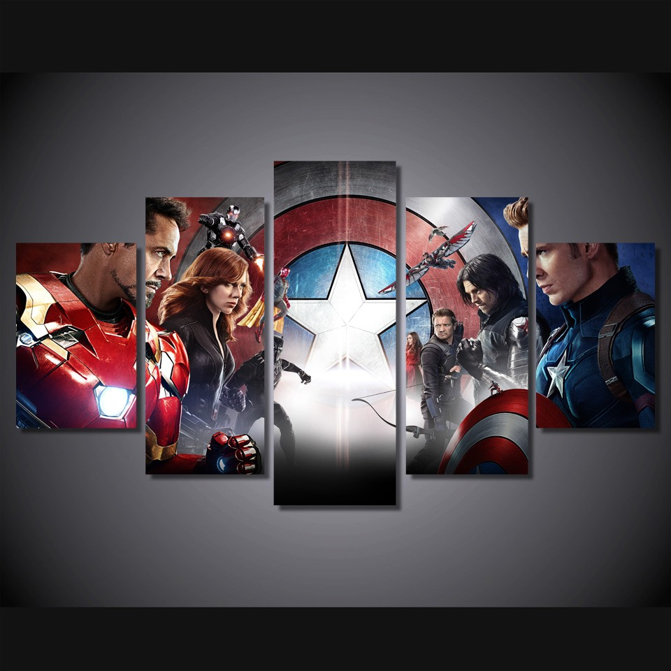 Online Buy Wholesale superhero canvas art from China