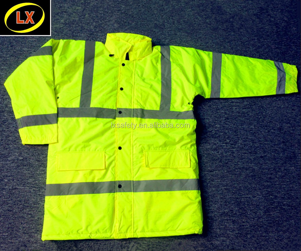 Traffic High Visibility Safety Reflective Winter Cold Weather Jacket Parka