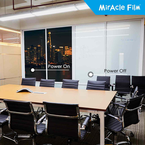 Smart LC Films, customised high precedence and atomisation projection films, transparent privacy-protecting glass used in office